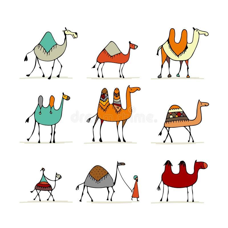 Sistema del camello, bosquejo para su diseño libre illustration