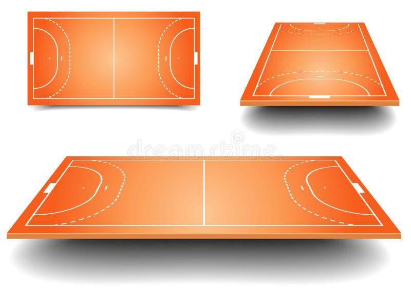 Sistema del campo del balonmano libre illustration
