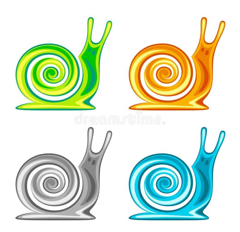 Sistema del caracol stock de ilustración