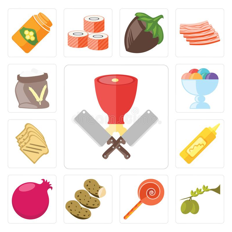 Sistema del carnicero, aceitunas, Jawbreaker, patatas, granada, Musta libre illustration