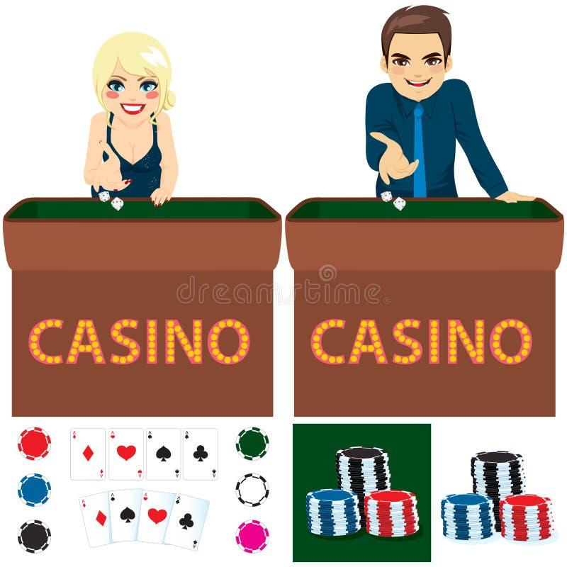 Sistema del casino de la gente stock de ilustración