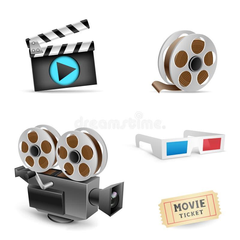 Sistema del cine stock de ilustración