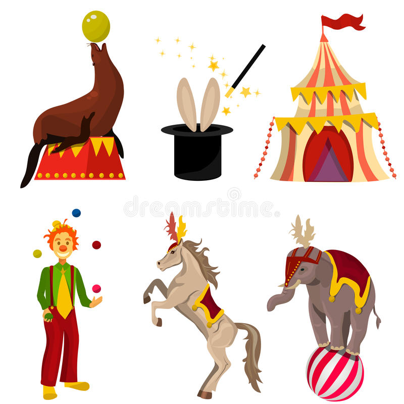 Sistema del circo del vector libre illustration