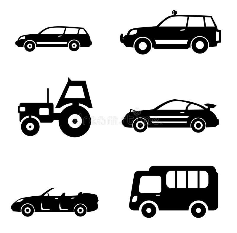 Sistema del coche ilustración del vector