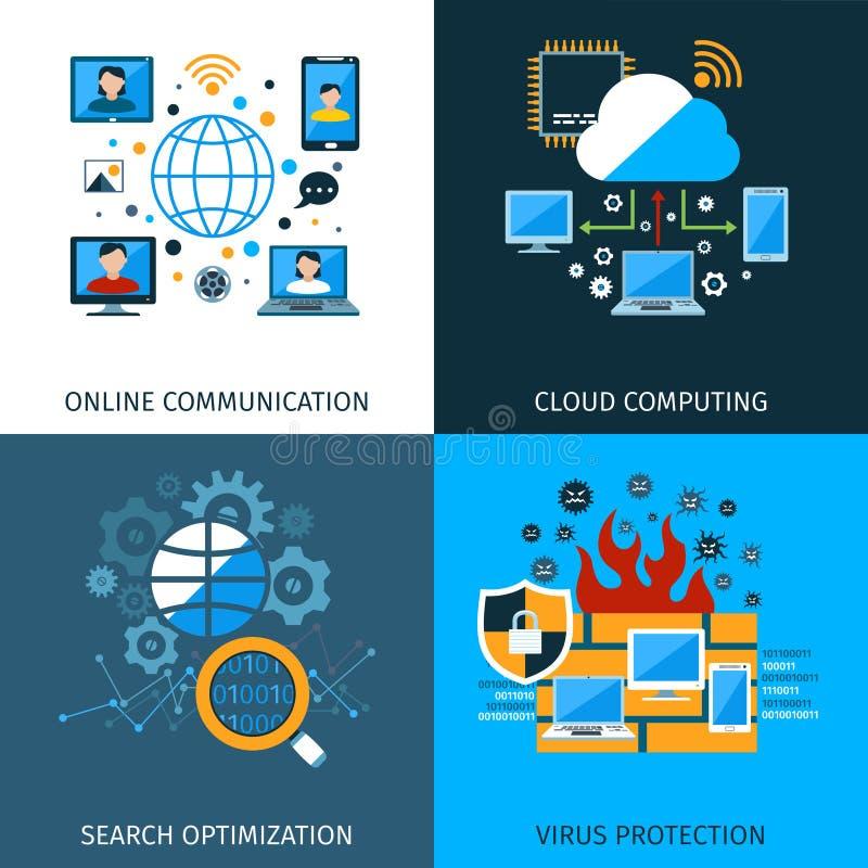 Sistema del concepto de la seguridad de la red ilustración del vector