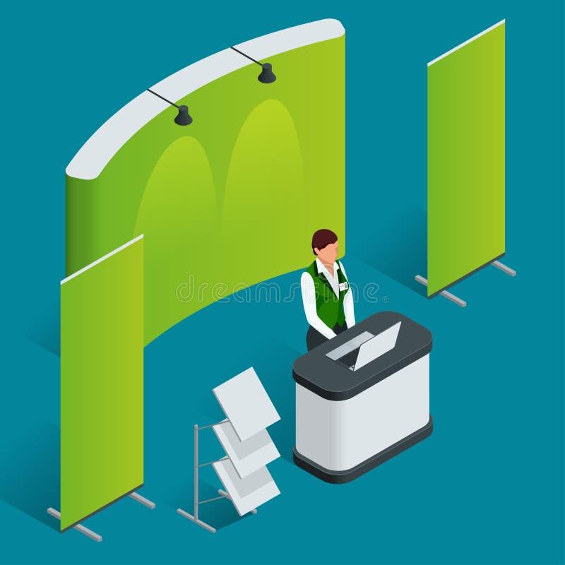 Sistema del contador de la promoción Soporte comercial Cartel en blanco del vector stock de ilustración
