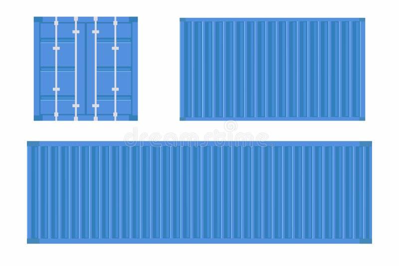 Sistema del contenedor para mercancías Contenedor para la logística y el transporte libre illustration