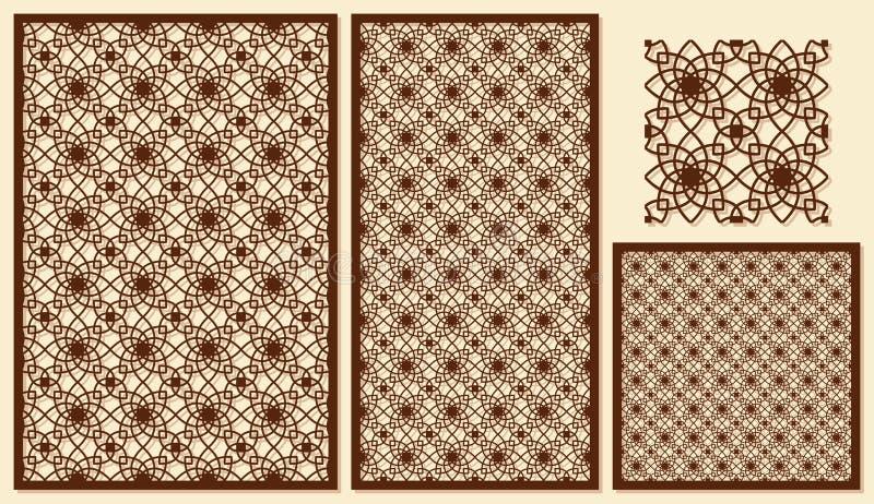 Sistema del corte decorativo del laser de los paneles Patte geométrico de la plantilla libre illustration
