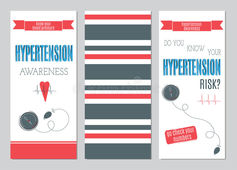 Sistema del día de la hipertensión de banderas libre illustration