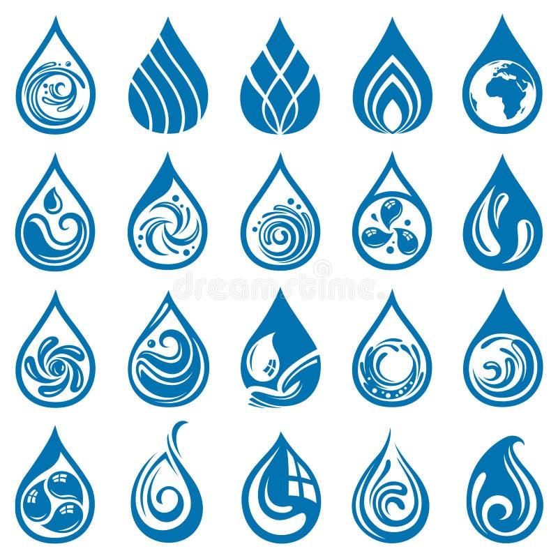 Sistema del descenso del agua libre illustration