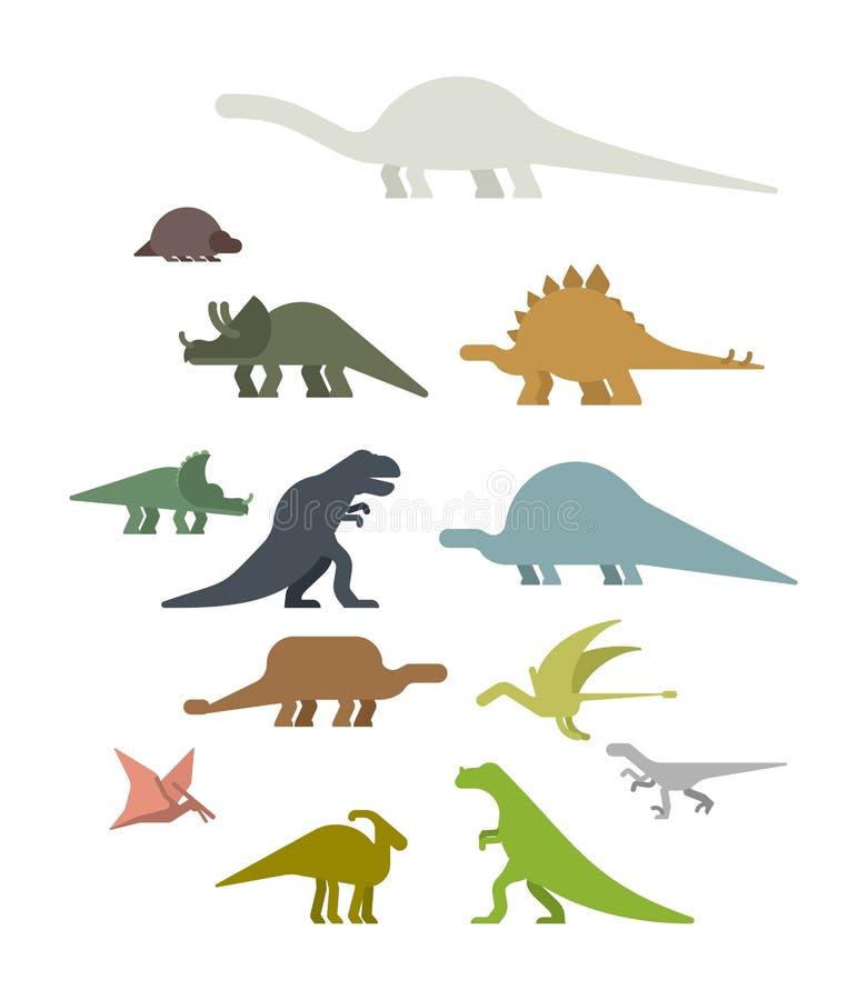 Sistema del dinosaurio Animal antiguo Diplodocus y Stegosaurus, Pteros libre illustration