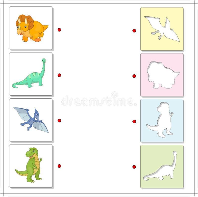Sistema del diplodocus, del tyrannosaur, del pterodáctilo y del triceratops edu stock de ilustración