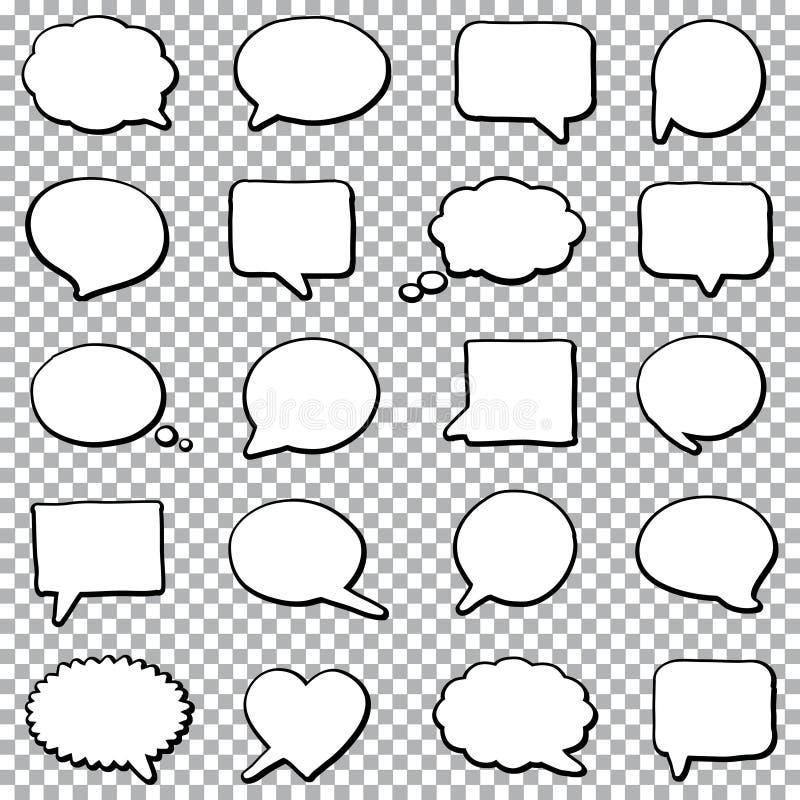 Sistema del discurso de la burbuja ilustración del vector