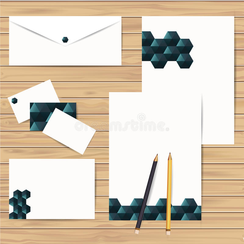 Sistema del diseño de la identidad corporativa Vector stock de ilustración