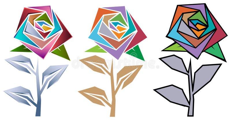 Sistema del diseño de Rose stock de ilustración