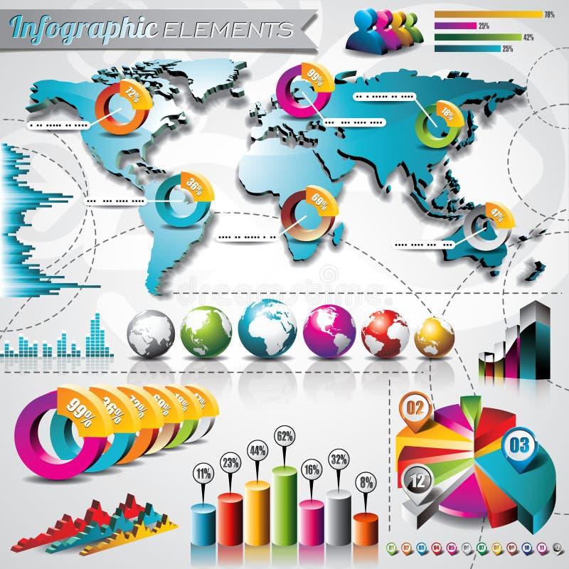 Sistema del diseño del vector de elementos infographic. libre illustration