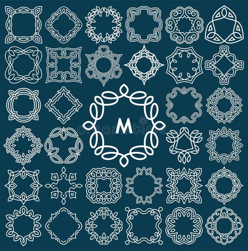 Sistema del diseño elegante del monograma libre illustration
