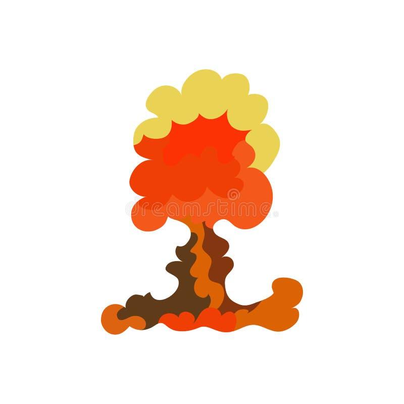 Sistema del efecto de la explosión de la historieta Estalle el flash, auge del efecto, bombardee cómico, fuego de la seta Vector ilustración del vector