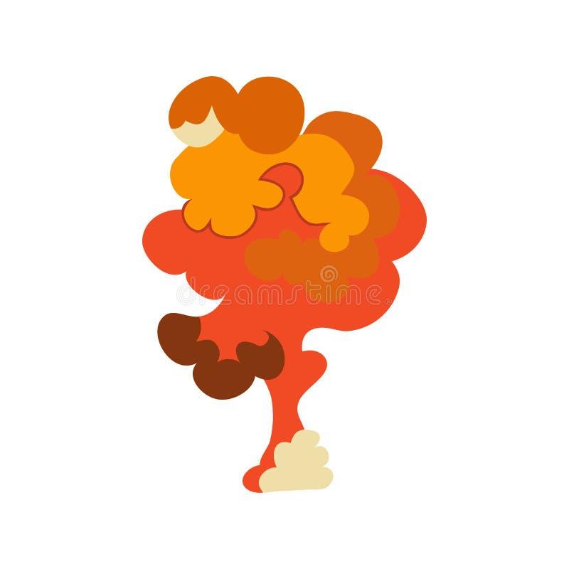 Sistema del efecto de la explosión de la historieta Estalle el flash, auge del efecto, bombardee cómico, fuego de la seta Vector stock de ilustración