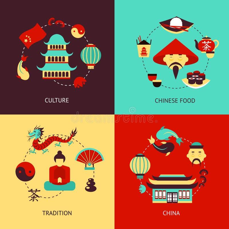 Sistema del ejemplo de China ilustración del vector
