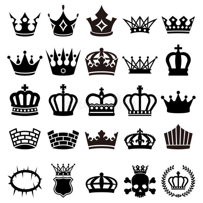Sistema del ejemplo de la corona stock de ilustración