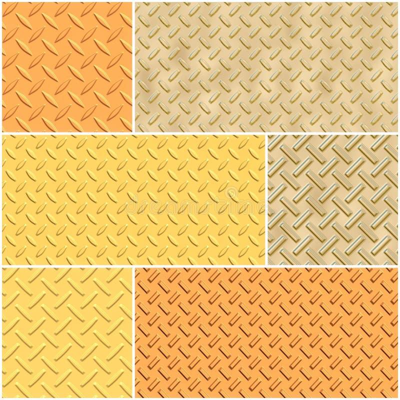 Sistema del ejemplo de la textura del metal libre illustration