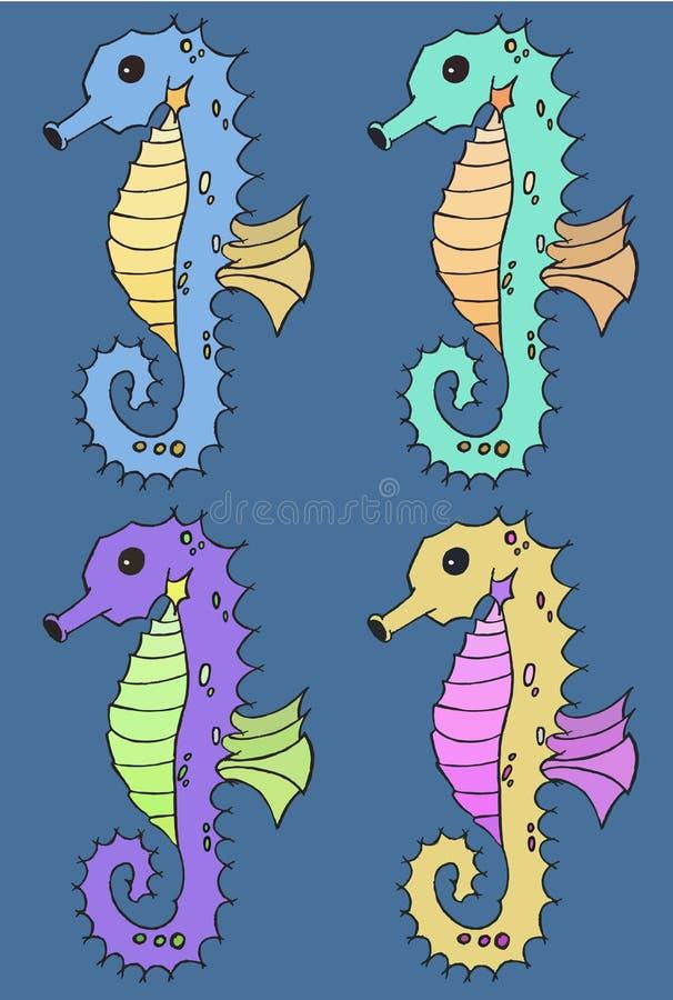 Sistema del ejemplo del vector del Seahorse libre illustration