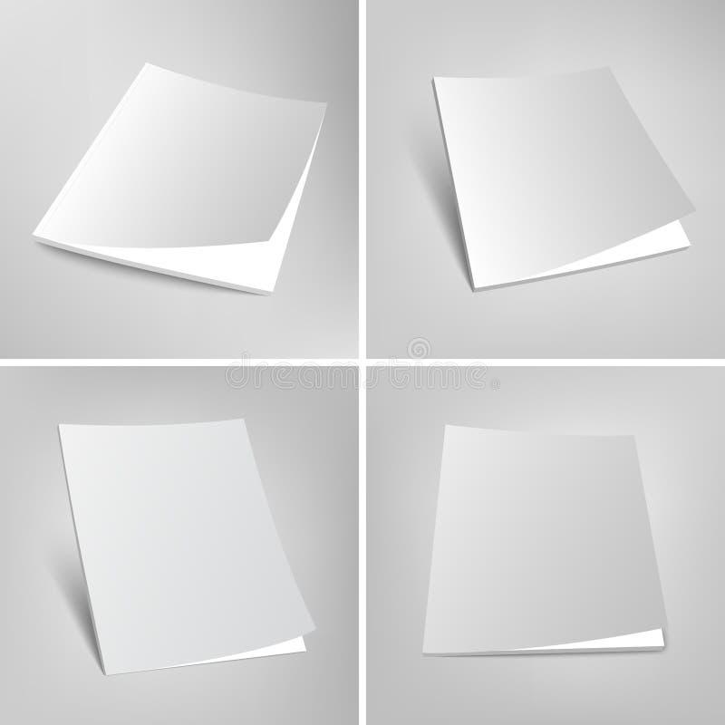 Sistema del ejemplo en blanco de las cubiertas de revistas del vector libre illustration