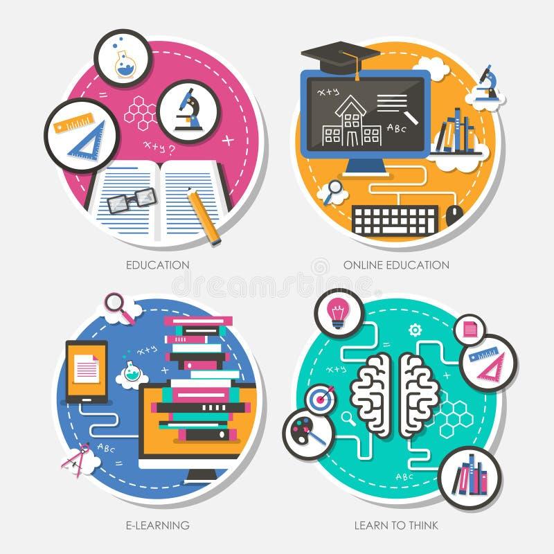 Sistema del ejemplo plano del vector del concepto de diseño libre illustration
