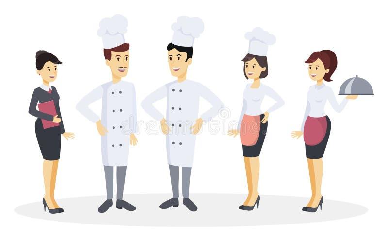 Sistema del equipo del cocinero libre illustration