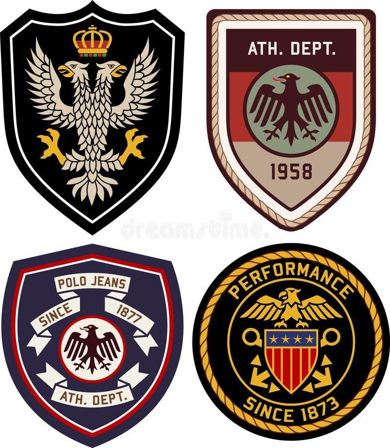 Sistema del escudo de la insignia del emblema libre illustration