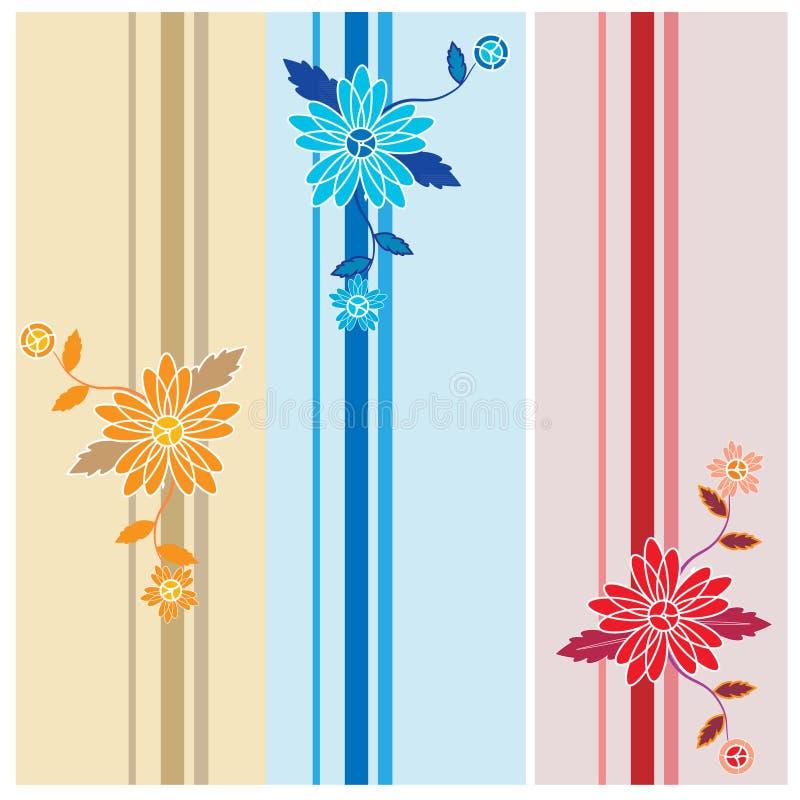 Sistema del estampado de flores del vector libre illustration