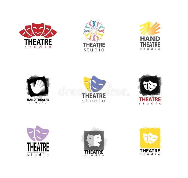 Sistema del estudio Logo Design del teatro stock de ilustración