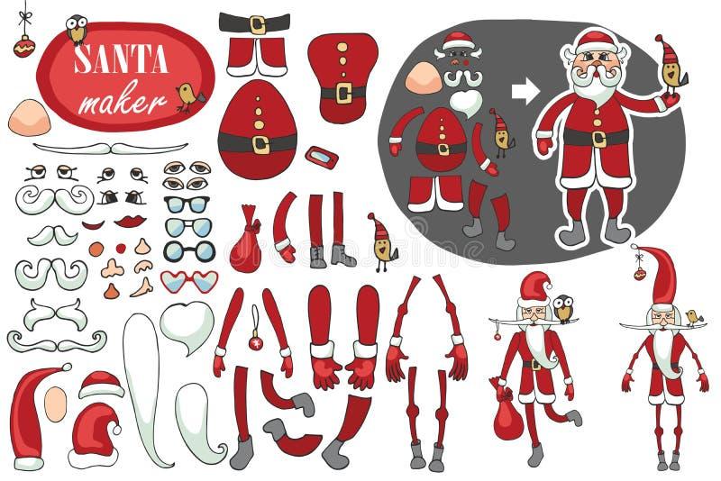 Sistema del fabricante de Santa Claus Constructor chistoso libre illustration