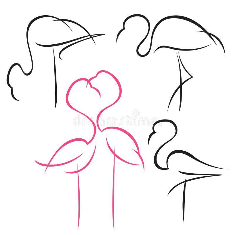 Sistema del flamenco ilustración del vector