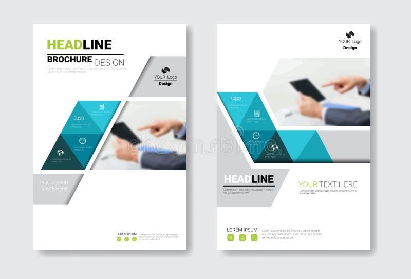 Sistema del folleto del diseño de la plantilla, informe anual, revista, cartel, presentación corporativa, cartera, colección del  ilustración del vector
