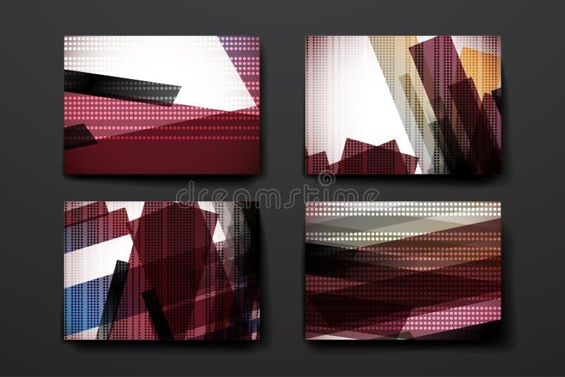 Sistema del folleto, plantillas del diseño del cartel adentro ilustración del vector