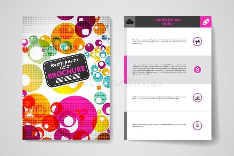 Sistema del folleto, plantillas del diseño del cartel en estilo abstracto del fondo ilustración del vector