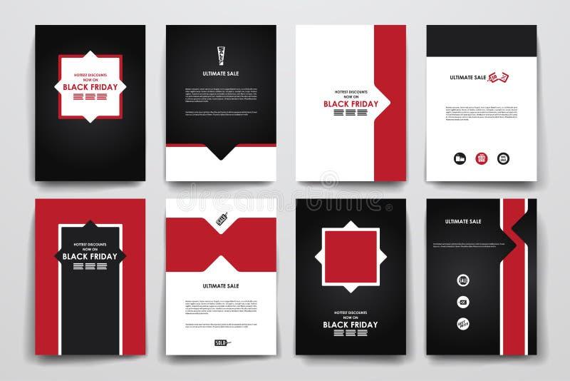 Sistema del folleto, plantillas del diseño del cartel en venta libre illustration