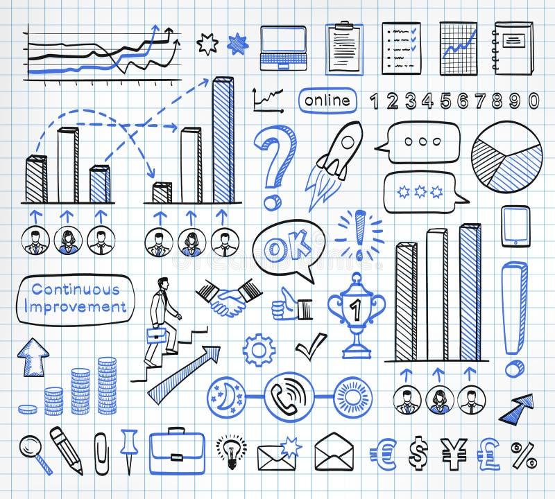 Sistema del garabato del negocio libre illustration