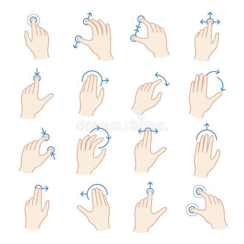 Sistema del gesto de la pantalla táctil del interfaz libre illustration