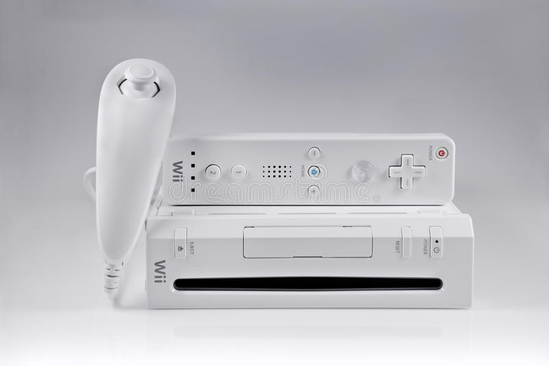 Sistema del gioco della Nintendo Wii fotografia stock