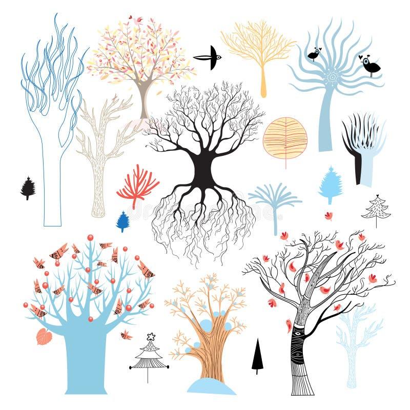 Sistema del gráfico de árboles libre illustration