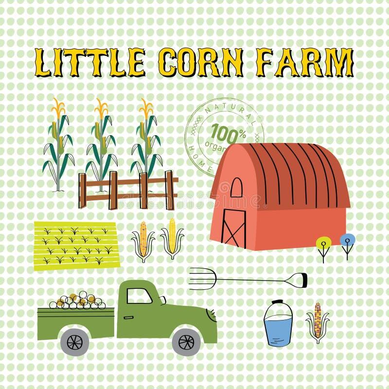 Sistema del gráfico de la granja del maíz libre illustration