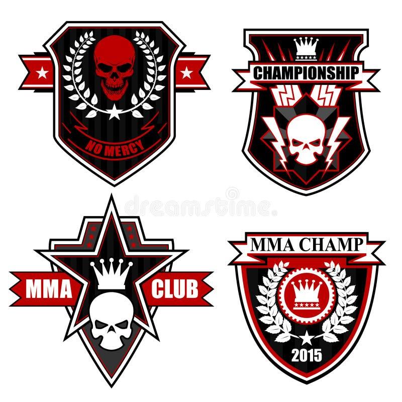 Sistema del gráfico del emblema del escudo de los deportes libre illustration