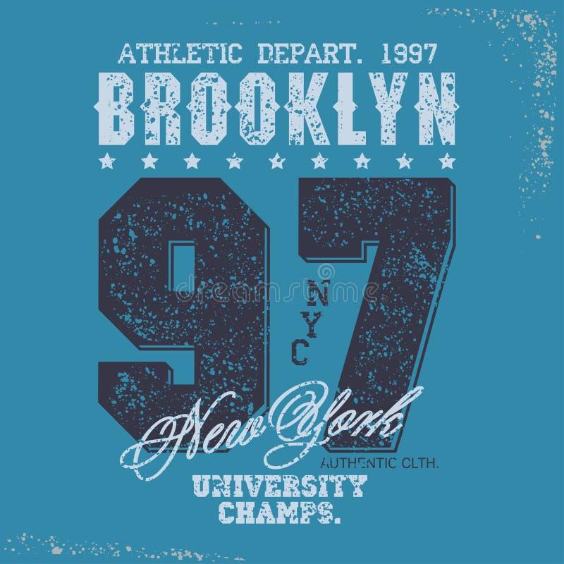 Sistema del gráfico del sello de la camiseta Emblema de la tipografía del desgaste del deporte ilustración del vector