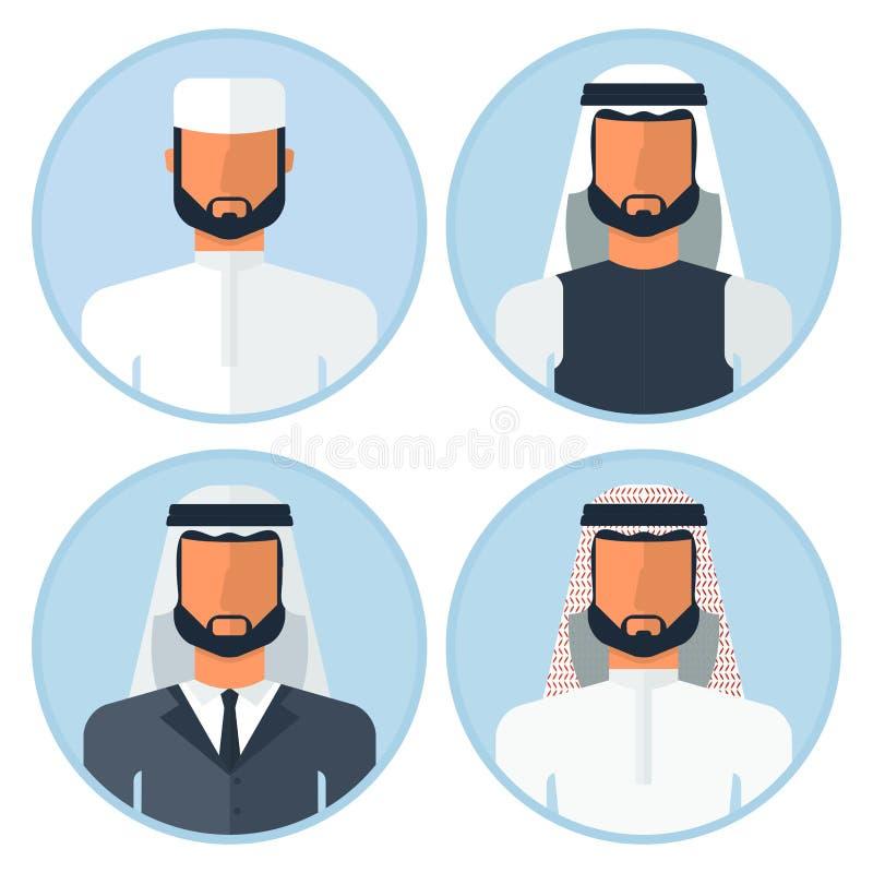 Sistema del hombre árabe ilustración del vector