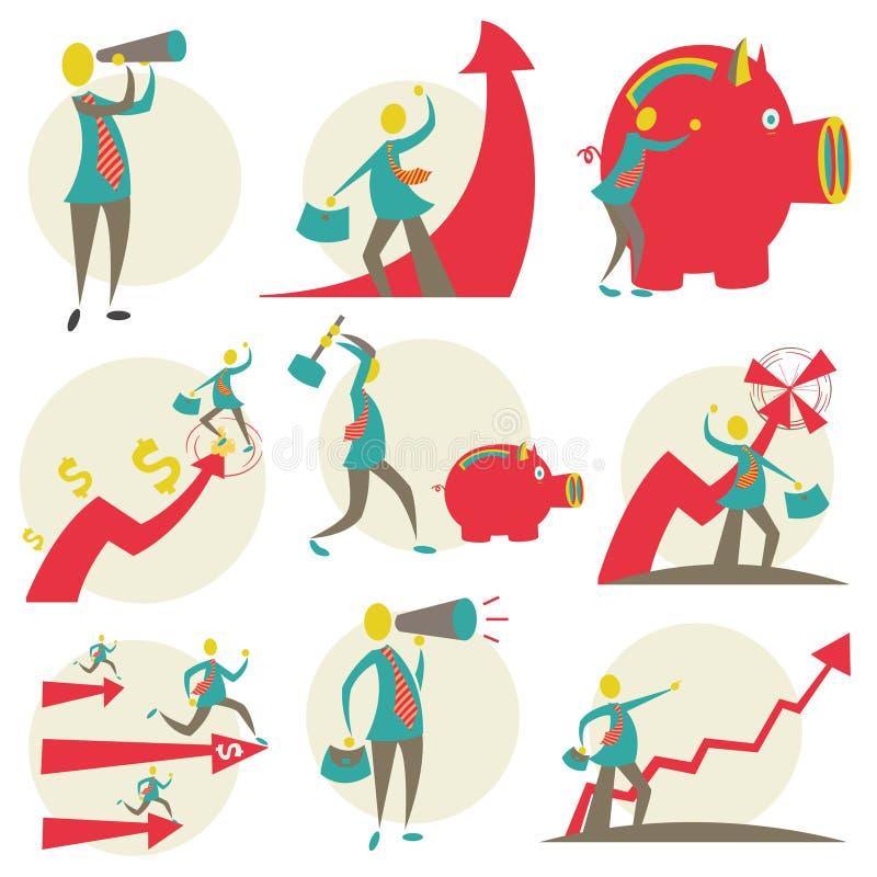 Sistema del hombre de negocios del carácter libre illustration