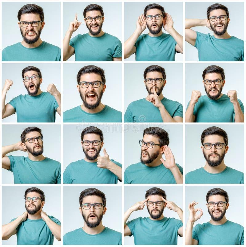 Sistema del hombre emocional hermoso foto de archivo libre de regalías