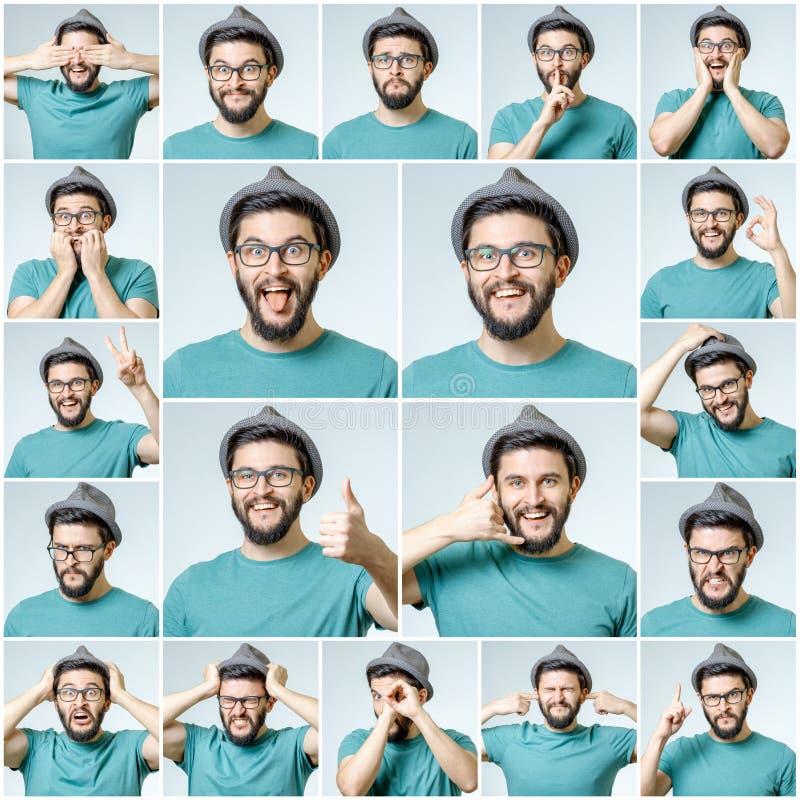Sistema del hombre emocional hermoso fotos de archivo libres de regalías